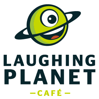 Logo: Laughing Planet.